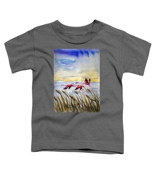 Flamingoes Flight Toddler T-Shirt