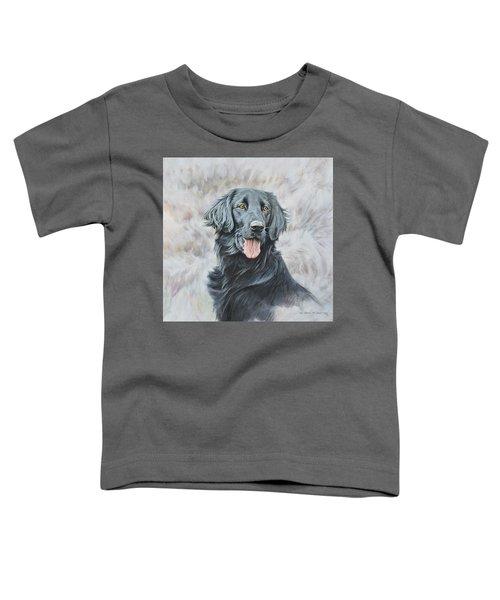 Flat Coated Retriever Portrait Toddler T-Shirt