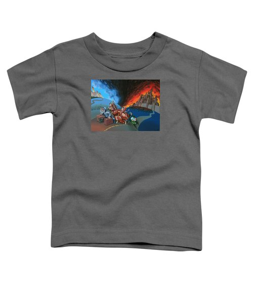 Flight Of Lot Out From Sodom Toddler T-Shirt