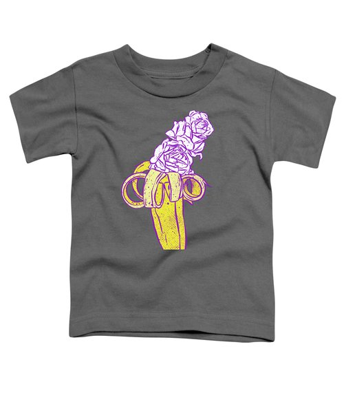 Floral Banana Toddler T-Shirt by Evgenia Chuvardina