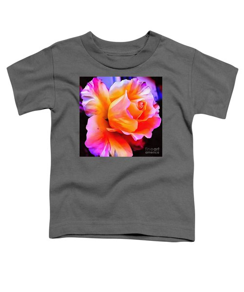 Floral Interior Design Thick Paint Toddler T-Shirt