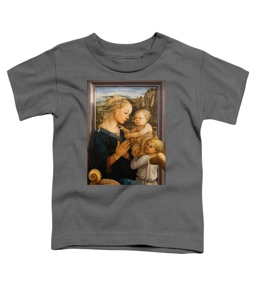 Florence - Madonna And Child With Angels- Filippo Lippi Toddler T-Shirt