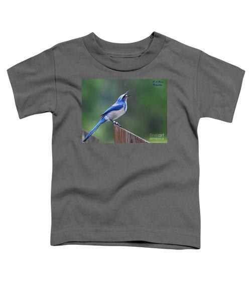 Florida Scrub Jay Eating Toddler T-Shirt