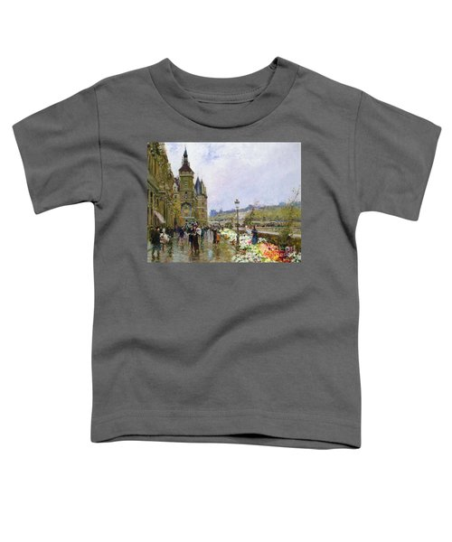 Flower Sellers By The Seine Toddler T-Shirt
