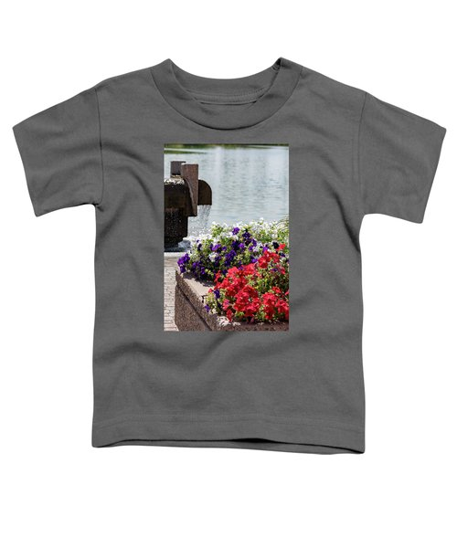 Flowers And Water Toddler T-Shirt