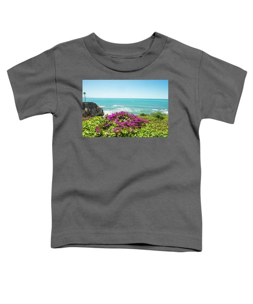 Flowers On The Cliff Toddler T-Shirt