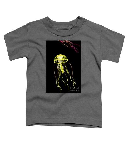 Flows Of Yellow Marine Life Toddler T-Shirt