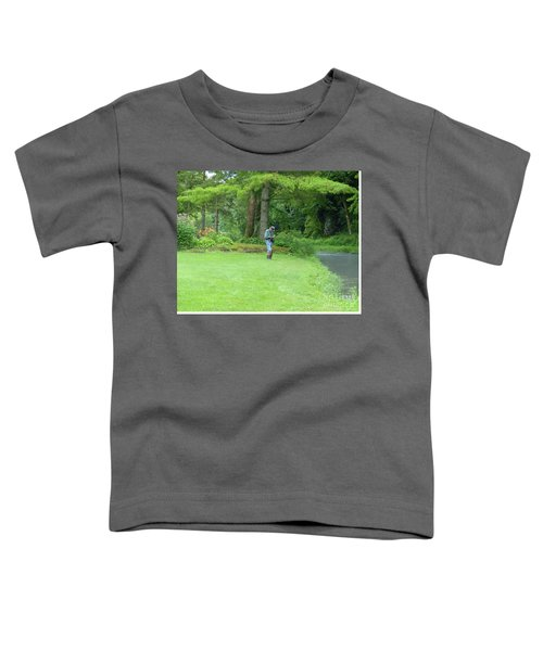 Fly Fishing On Trout Run Creek Toddler T-Shirt