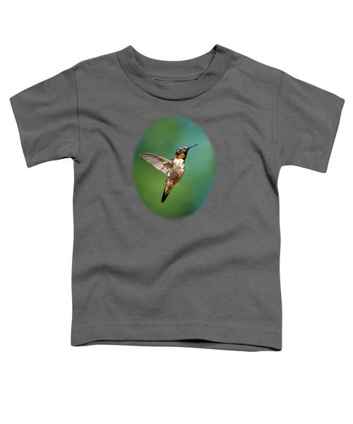 Flying Hummingbird Toddler T-Shirt by Christina Rollo