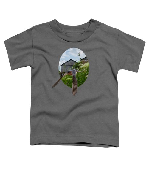 Flying Through The Farm Toddler T-Shirt by Jan M Holden