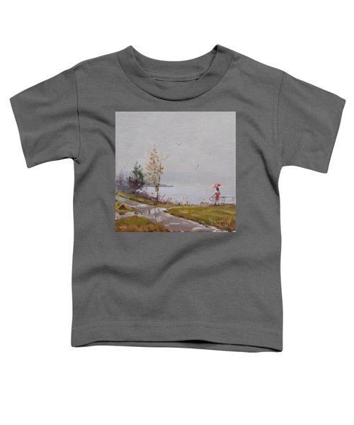Fog And Rain At Gratwick Waterfront Park Toddler T-Shirt