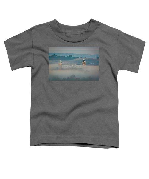 Fog At Old Main Toddler T-Shirt by Damon Shaw