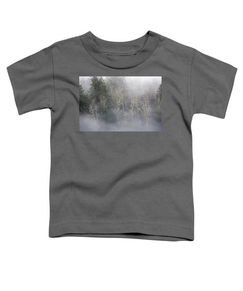 Foggy Alders In The Forest Toddler T-Shirt