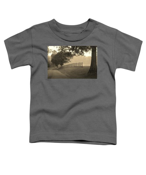 Foggy Fence Line Toddler T-Shirt