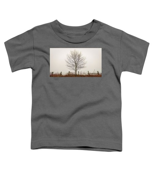 Foggy Lone Tree Hill Toddler T-Shirt