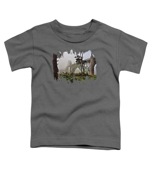 A Foggy Morning On Yaquina Bay Toddler T-Shirt
