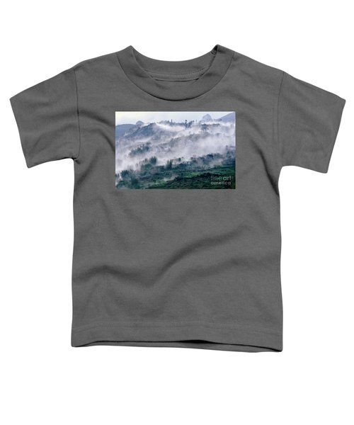 Foggy Mountain Of Sa Pa In Vietnam Toddler T-Shirt