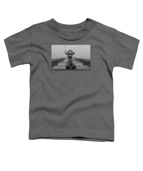 Folly Beach Pier Black And White  Toddler T-Shirt