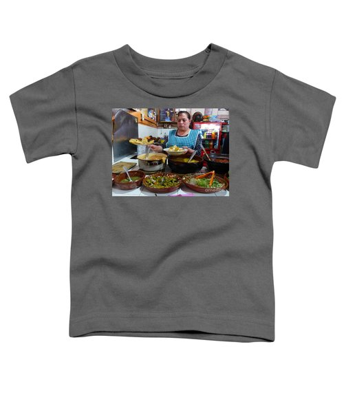 Food Court In Paracho Toddler T-Shirt