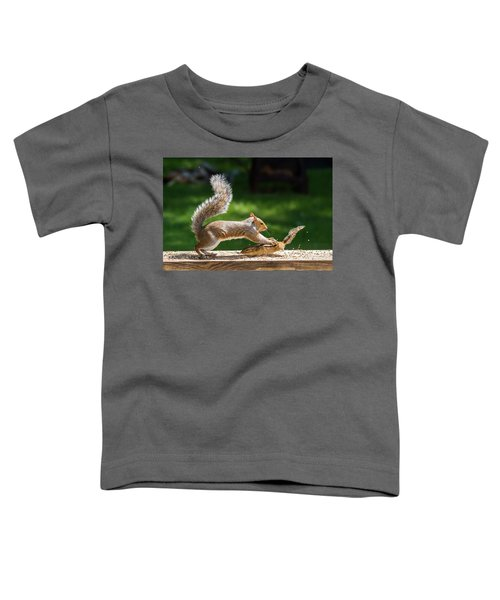 Food Fight Squirrel And Chipmunk Toddler T-Shirt