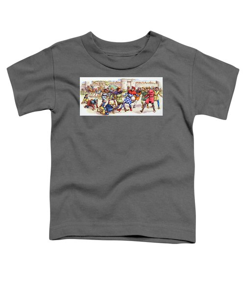 Football In The Middle Ages Toddler T-Shirt