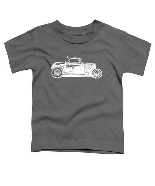 Ford Hot Rod Invert White Ink Tee Toddler T-Shirt