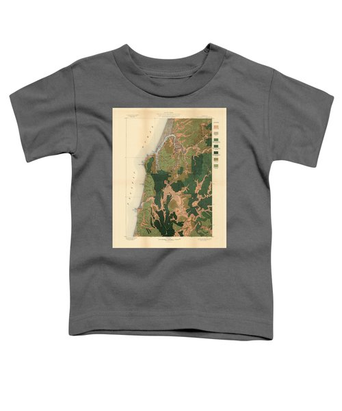 Forest Cover Map 1886-87 - Coos Bay Quadrangle - Oregon - Geological Map Toddler T-Shirt