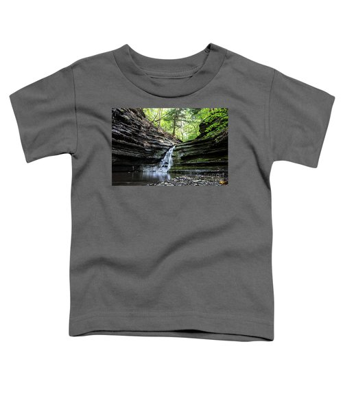 Toddler T-Shirt featuring the photograph Forest Waterfall by MGL Meiklejohn Graphics Licensing