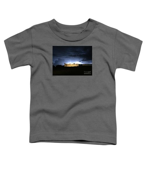 Lightening At Castillo De San Marco Toddler T-Shirt