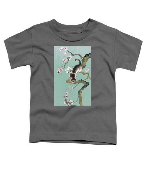 Fortune Cat In Cherry Tree Toddler T-Shirt