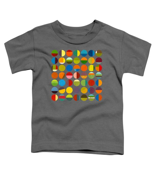 Forty Nine Circles Toddler T-Shirt by Michelle Calkins