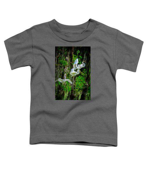 Four Egrets Toddler T-Shirt
