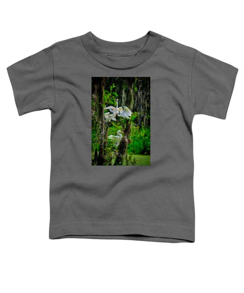 Four Egrets In Tree Toddler T-Shirt