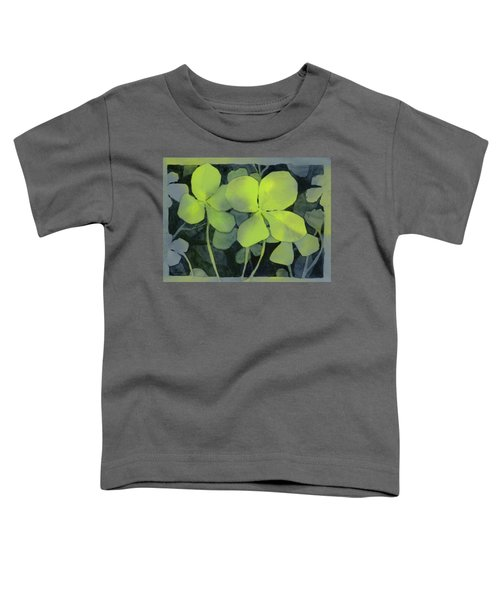 Four Leaf Clover Watercolor Toddler T-Shirt
