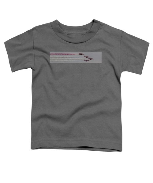 Four Red Arrows Smoke Trail - Teesside Airshow 2016 Toddler T-Shirt
