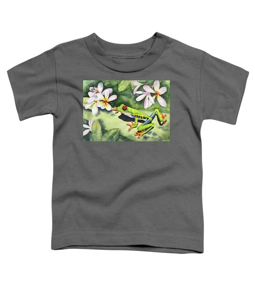 Frog And Plumerias Toddler T-Shirt