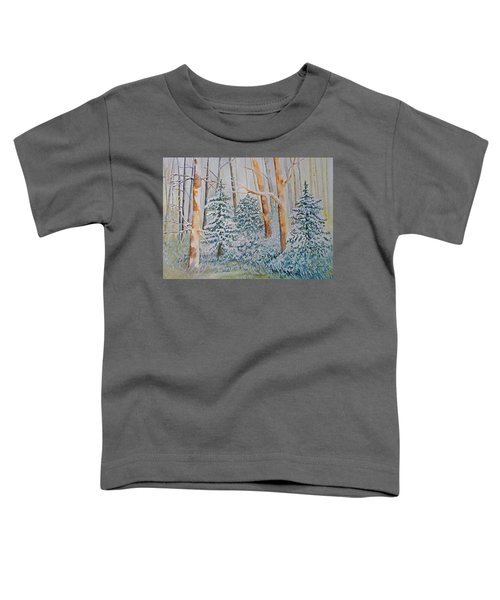 Toddler T-Shirt featuring the painting Winter Frost by Joanne Smoley