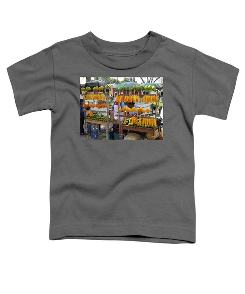 Fruit Stand Antigua  Guatemala Toddler T-Shirt by Kurt Van Wagner