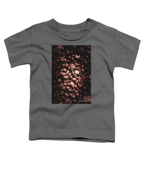 Full Frame Background Of Chocolate Chips Toddler T-Shirt