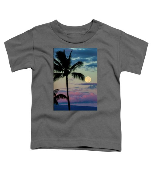 Full Moon And Palm Trees Toddler T-Shirt