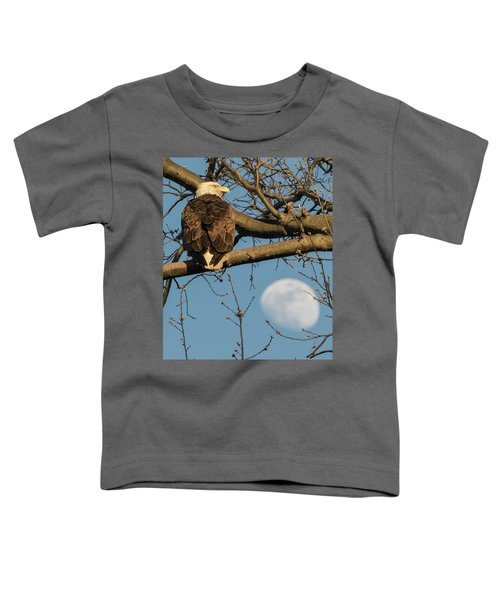Full Moon Eagle  Toddler T-Shirt