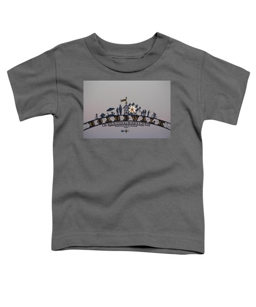 Full Moon In The Boardwalk Arch Ferris Wheel Toddler T-Shirt