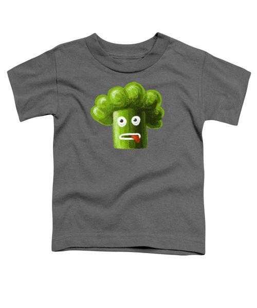 Funny Broccoli Toddler T-Shirt by Boriana Giormova