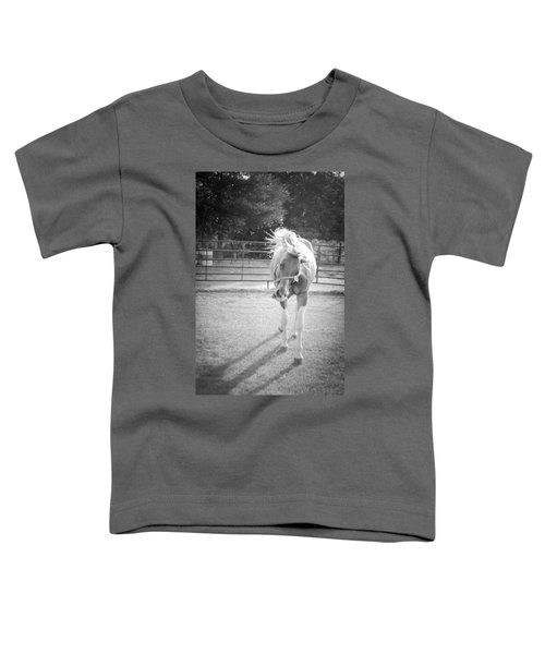Funny Horse In Black And White Toddler T-Shirt