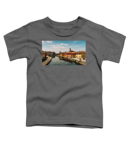 Gaggiano On The Naviglio Grande Canal, Italy Toddler T-Shirt