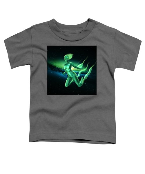 Galaxy Mermaid Toddler T-Shirt by Rene Lopez