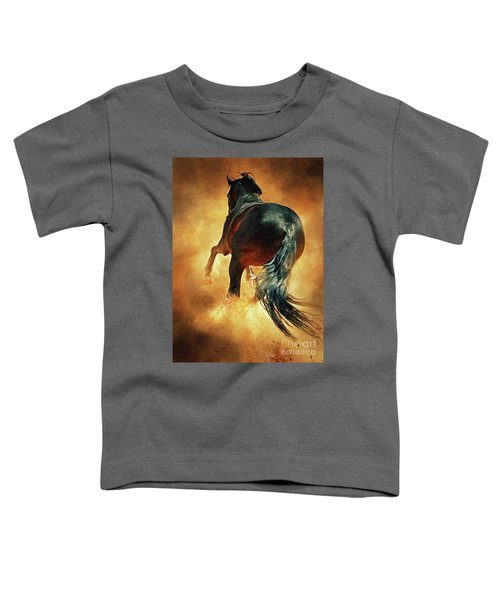 Galloping Horse In Fire Dust Toddler T-Shirt