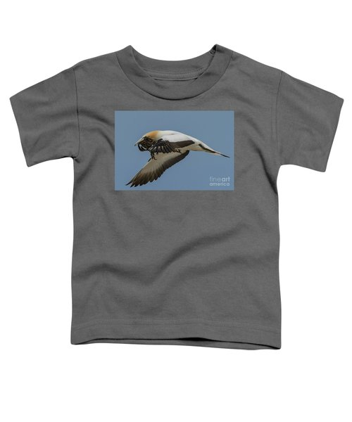 Toddler T-Shirt featuring the photograph Gannets 1 by Werner Padarin