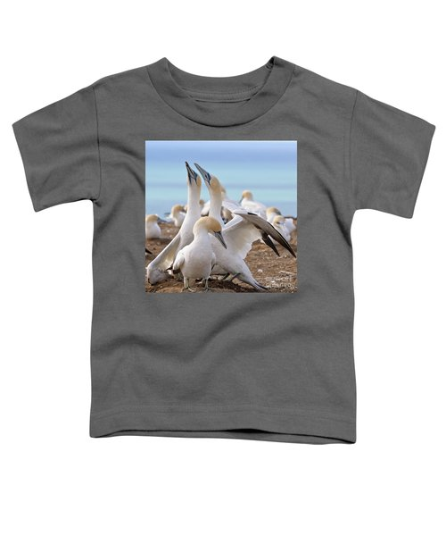 Toddler T-Shirt featuring the photograph Gannets by Werner Padarin