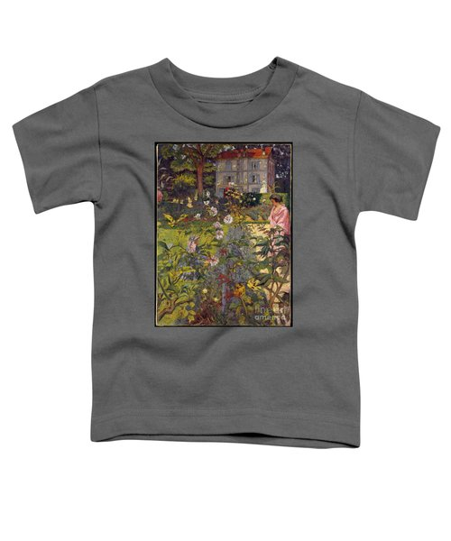 Toddler T-Shirt featuring the painting Garden At Vaucresson by Celestial Images